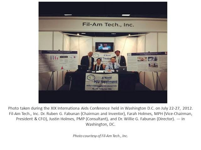 Fil-Am Tech was headed by his daughter, Dr Farah Holmes with other positions held by family members.